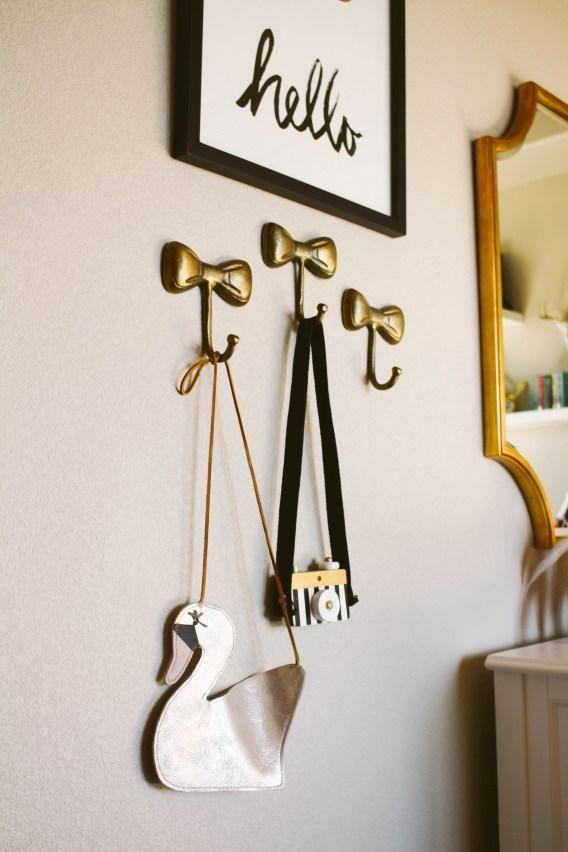 Little Bow Wall Hook Wall Hooks Nursery Wall Hooks Girl Room