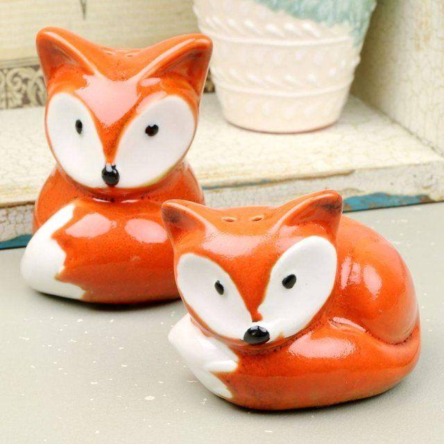 Foxy Salt Pepper Shaker Set Stuffed Peppers