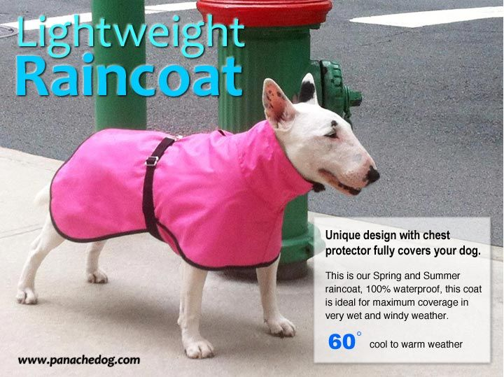 A lightweight rain coat - hot pink!
