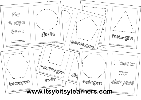 Shapes Coloring Book [Downloadable]