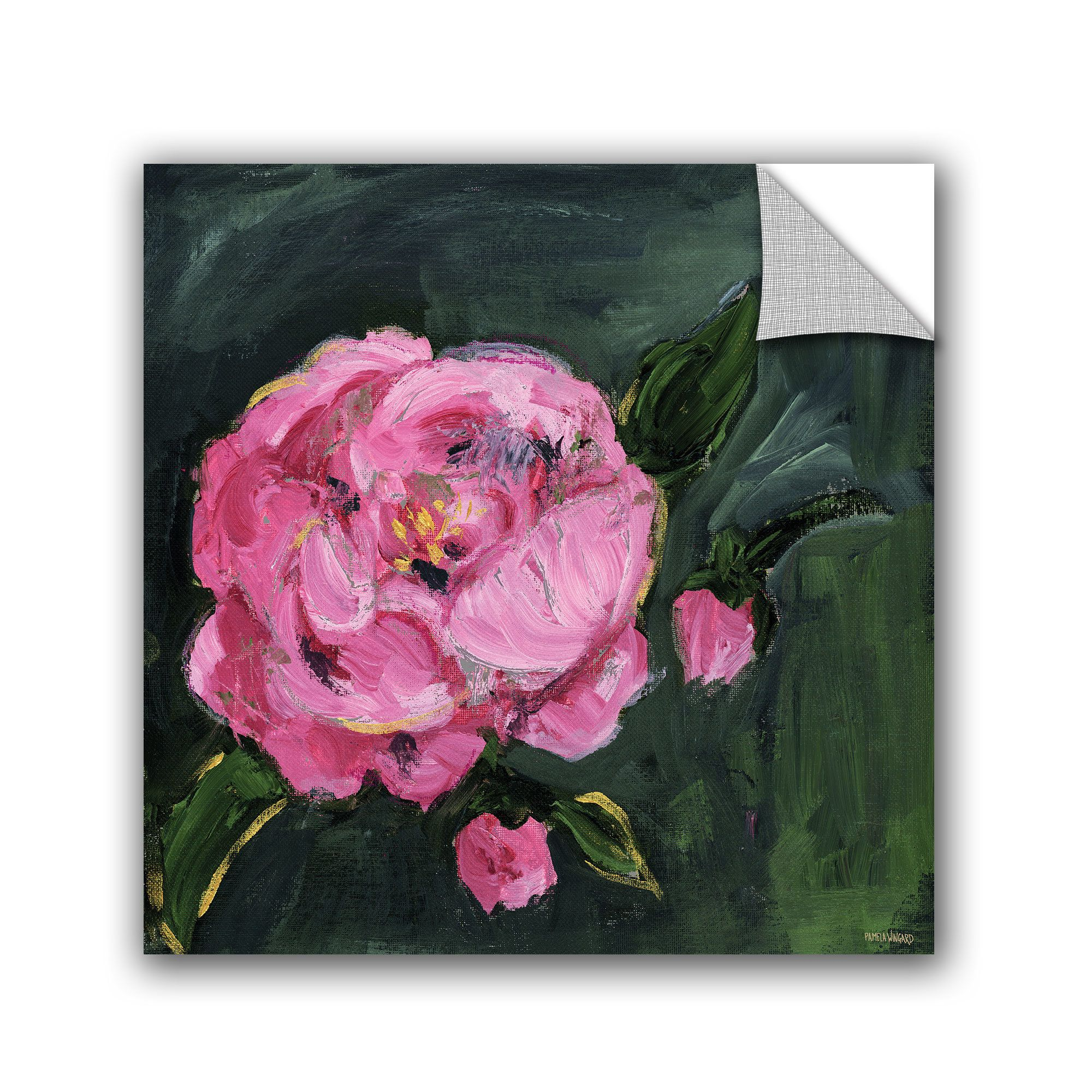 Pamela J. Wingard Romantic Floral I Wall Decal