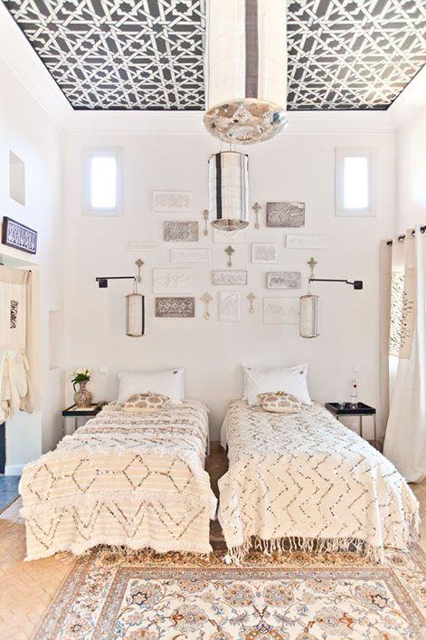 Inspiración marroquí Dormitorio, Estilo marroquí y Camas