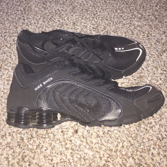 ✔️ Nike All Black Women's Shox  Worn once!!! In excellent, like new condition. Women's Shox all black size 8.5. Insanely comfy. I just don't wear them like I thought I would, so selling! Insanely comfy and look good with everything! Smoke and pet free home. Thanks for looking! Nike Shoes Athletic Shoes