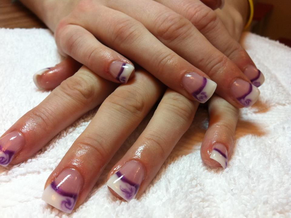 Color Gel Karen S Nails Page 5 French Gel Nail Designs Purple Gel Nails Gel Manicure Designs
