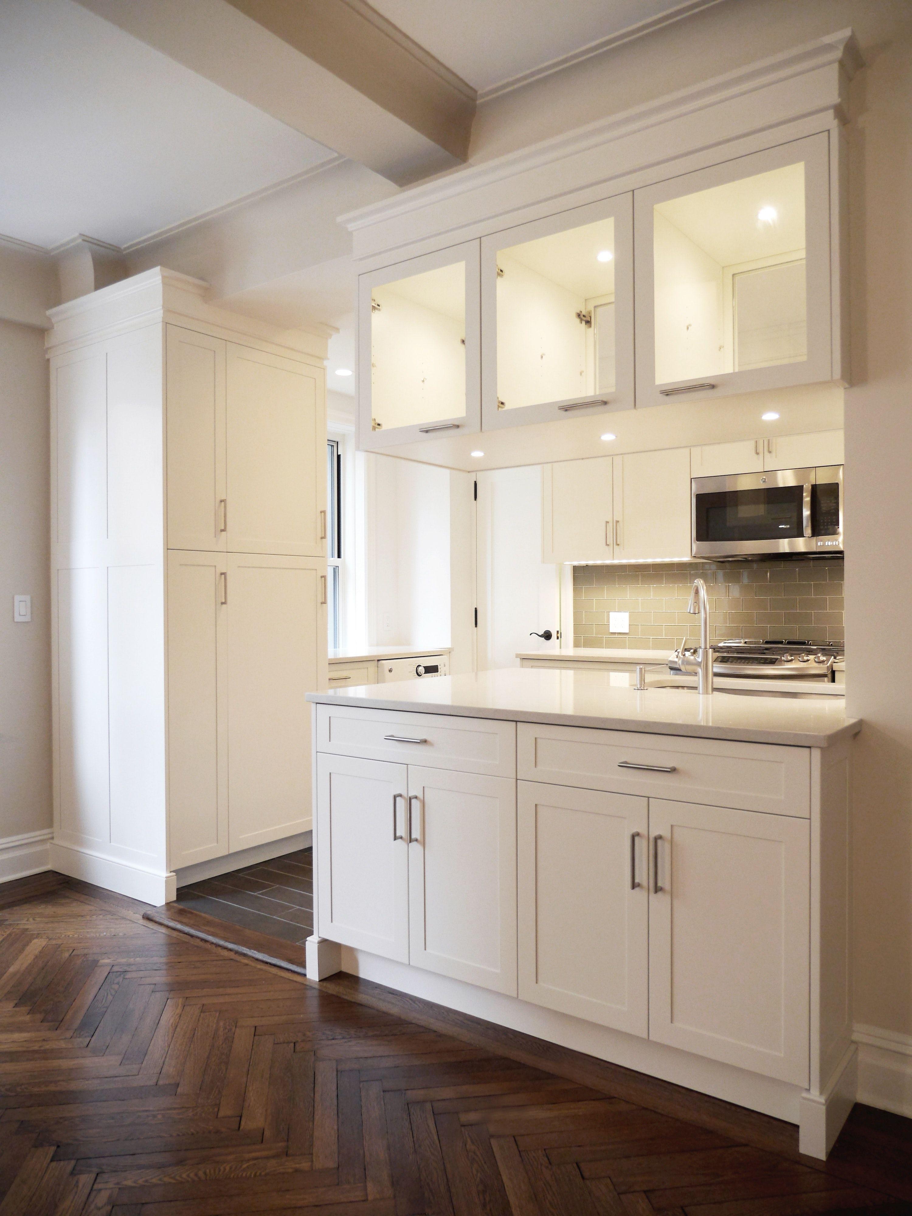 Interior Design Open Kitchen: Contemporary Open White Custom Kitchen/Cabinetry By Paula