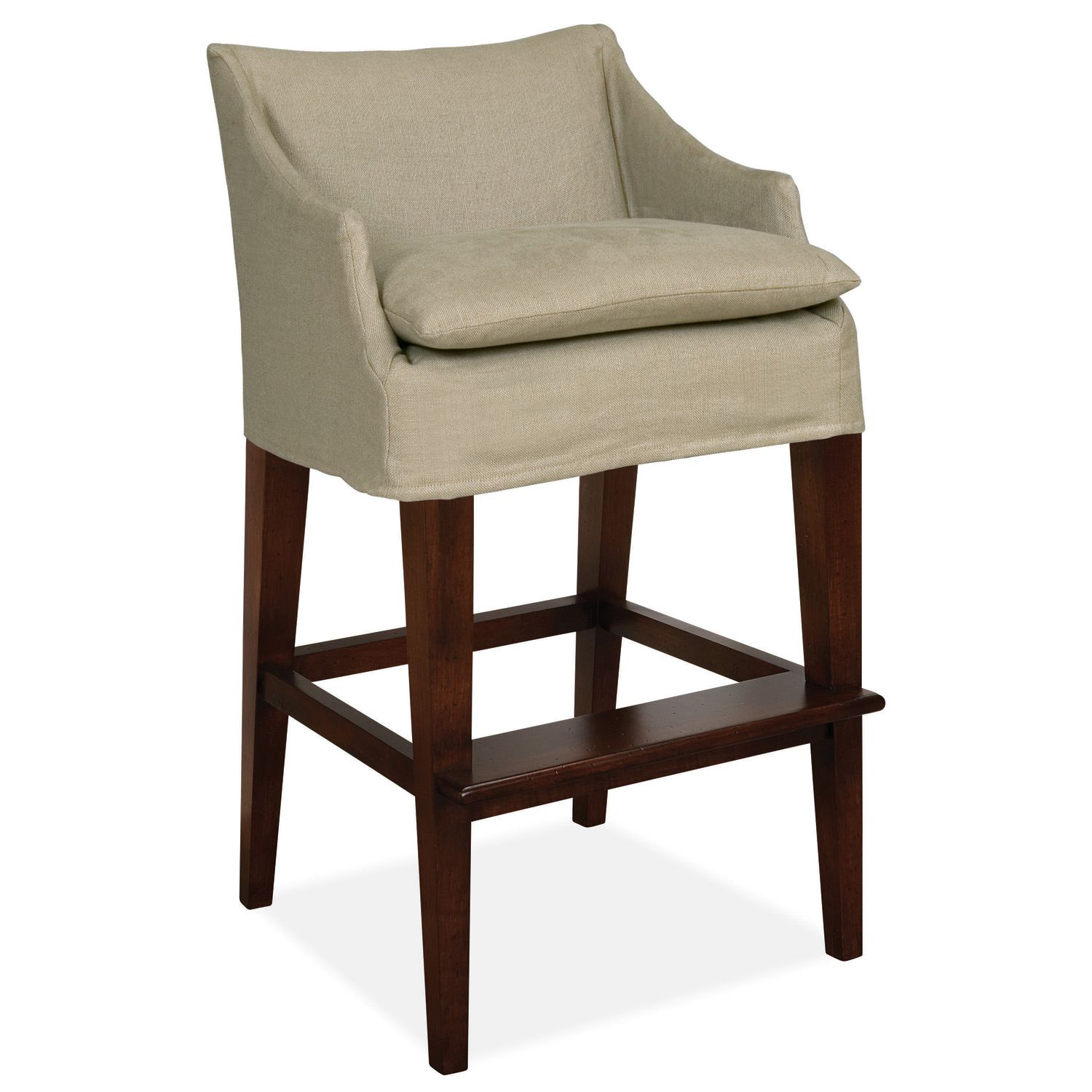 Counter Height Chair Slipcovers Round Kitchen Table With Caster Chairs Layla Grayce Normandy Slipcovered Campaign Bar Stool Laylagrayce