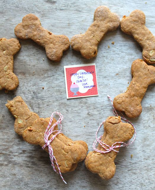 Peanut Butter And Oats Dog Bone Biscuits Recipe Homemade Dog