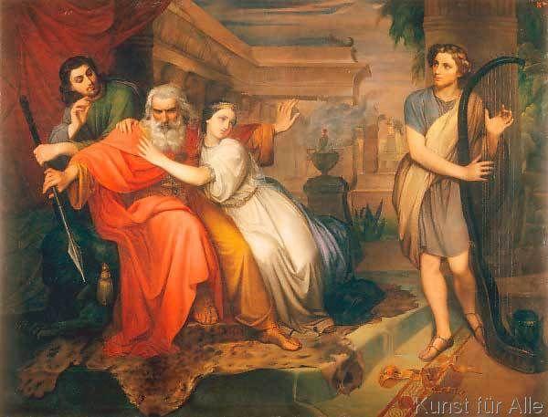 Silvestro Lega - David che calma i furori di Saul con l'arpa