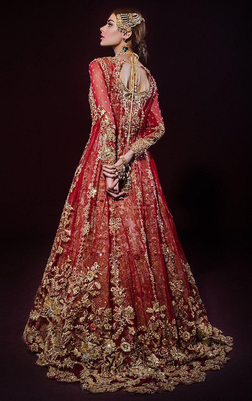 Heavily Embroidered Bridal Anarkali Lehenga Latest Bridal Dresses Indian Bridal Dress Bridal Fashion Designers [ 1280 x 804 Pixel ]