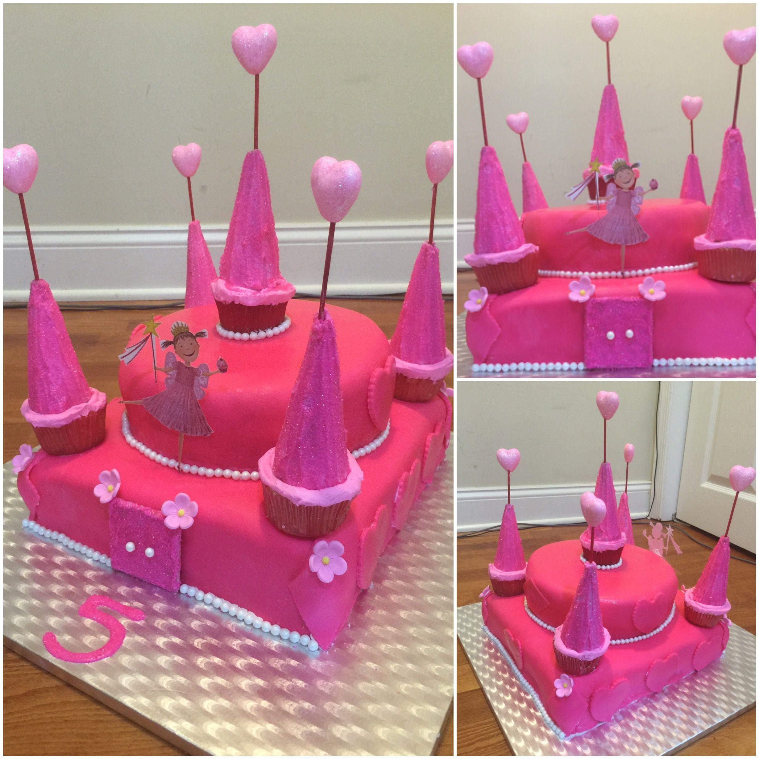 pinkalicious very pink castle birthday cake