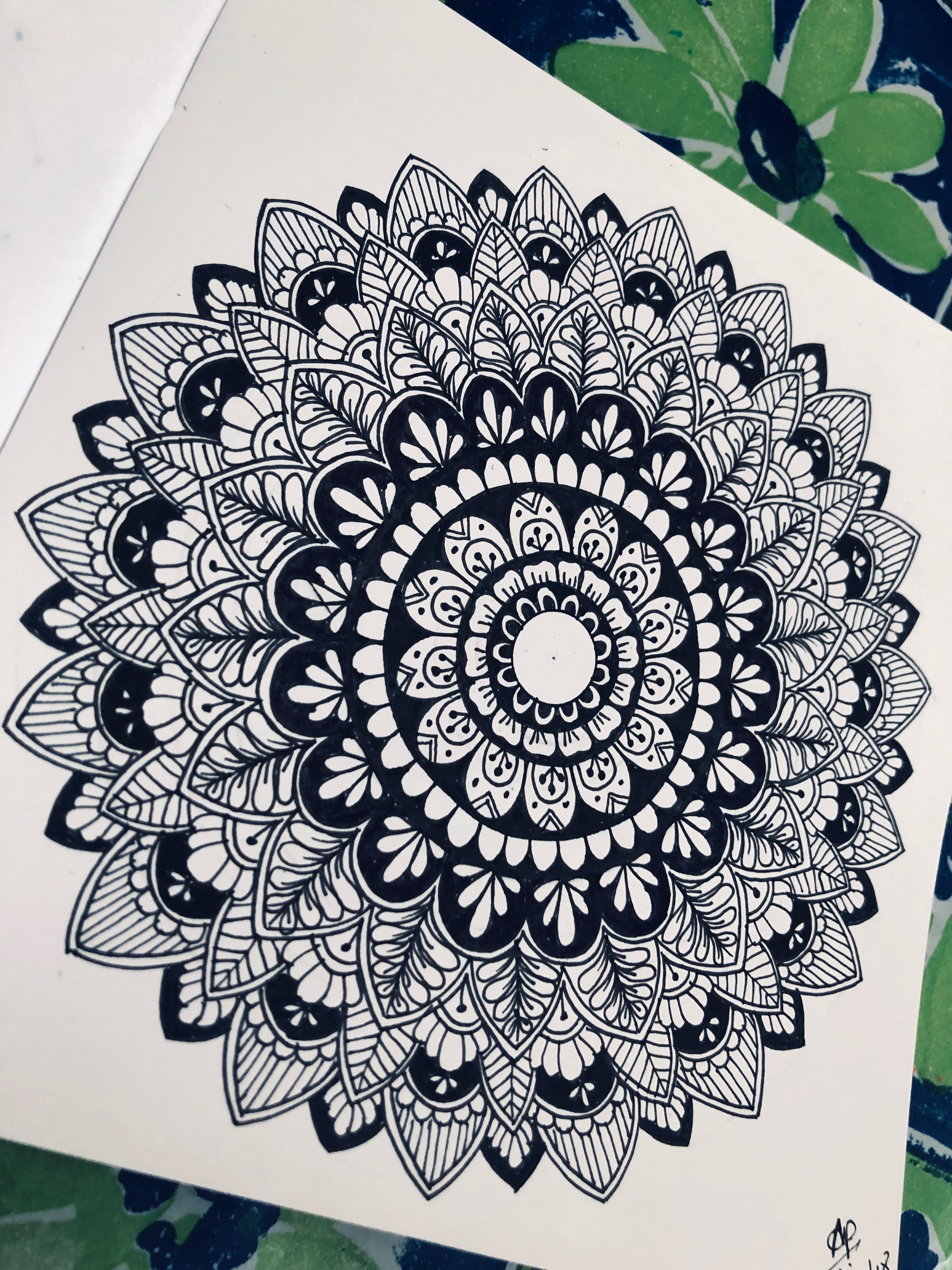 Black And White Mandala Design Zentangle Doodles Free