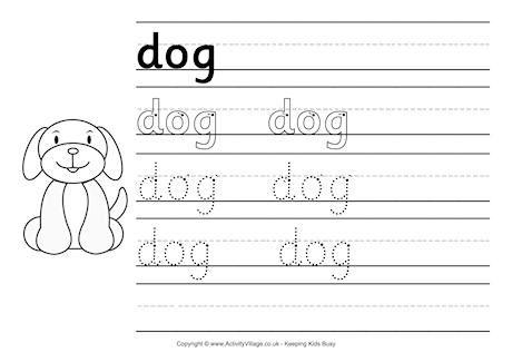 Dog Handwriting Worksheet School Pinterest Handwriting