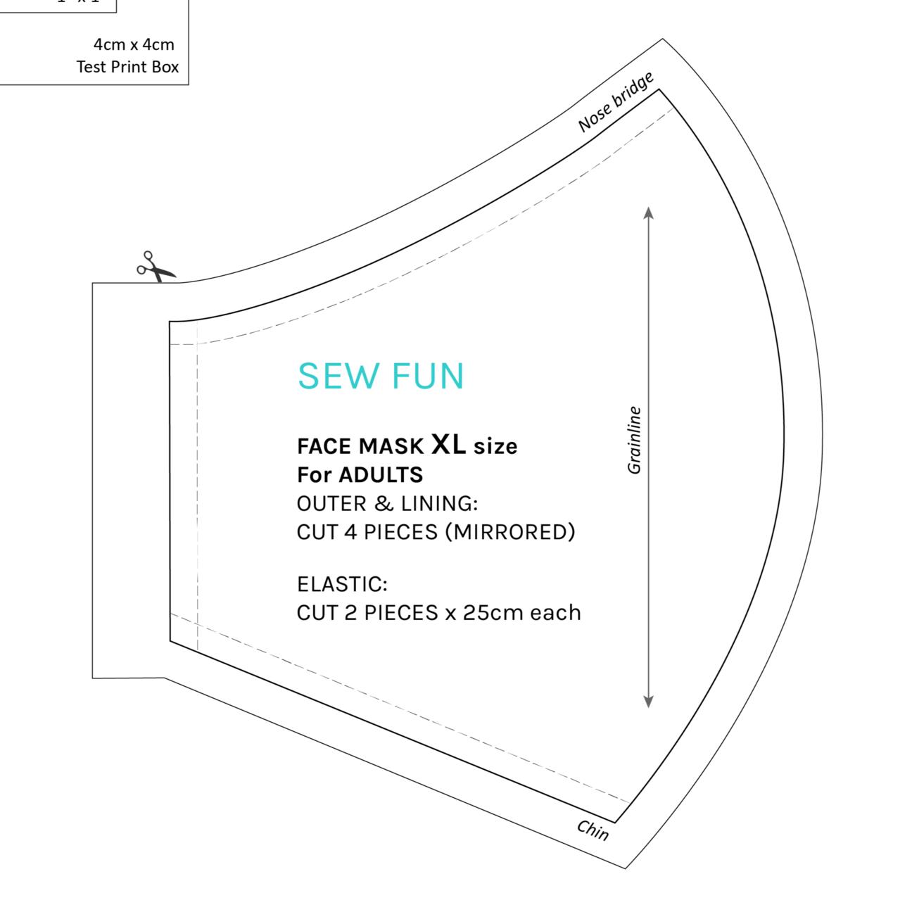 Photo of SEW FUN Face Mask Pattern (sizes XS to XL)