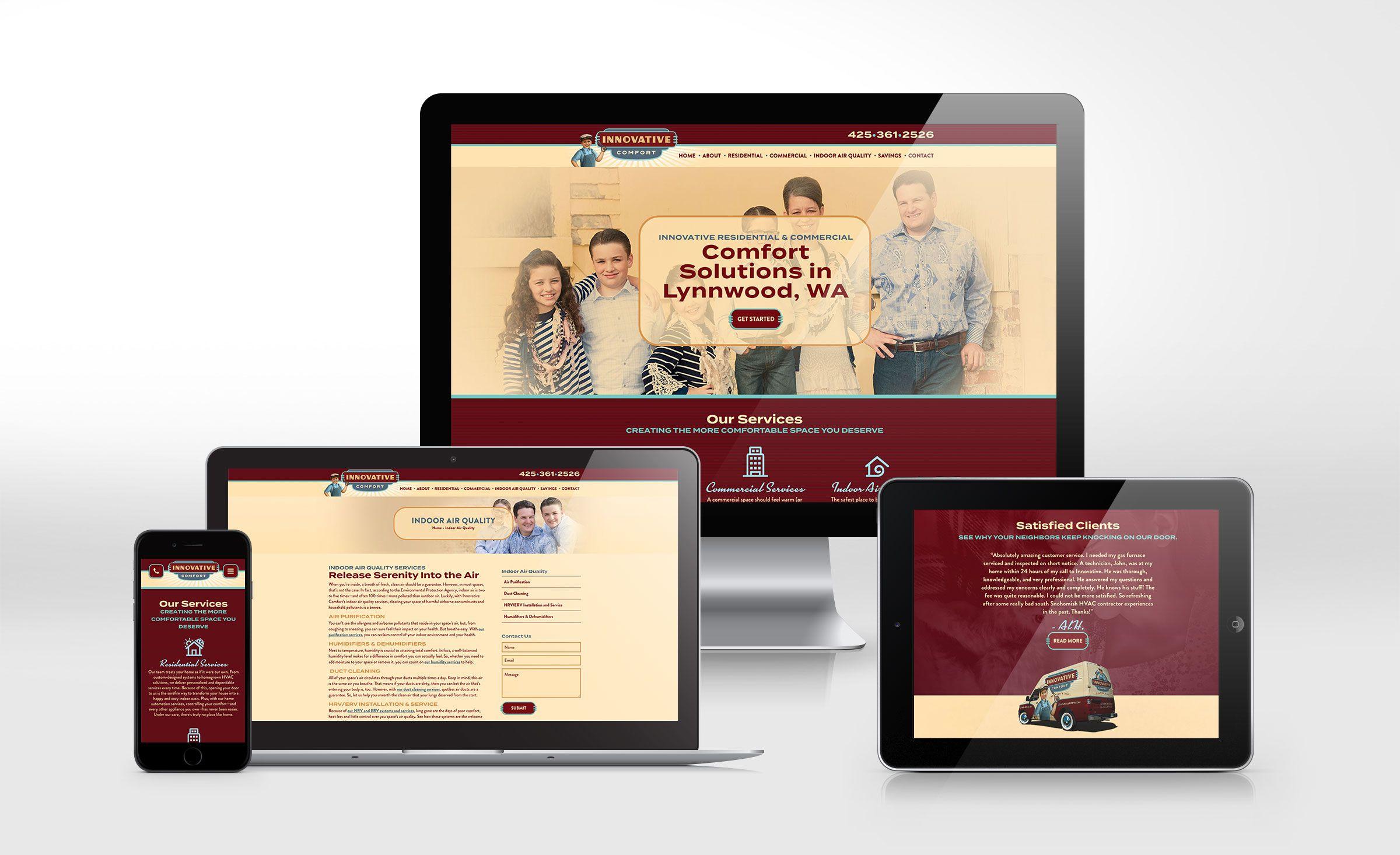 Website Design For Innovative Comfort Nj Advertising Agency Nj Ad Agency Nj Web Design Nj Logo Design Webs Portfolio Web Design Brand Strategy Innovation