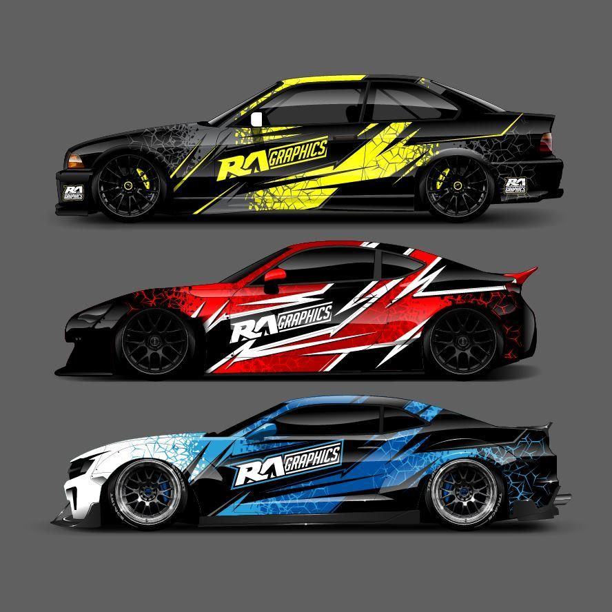 Ra Graphic Pack 8 Car Wrap Car Graphics Vinyl For Cars
