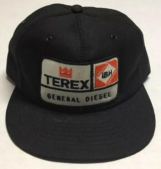 5565445bb2df2c Vtg Terex General Diesel Trucker Hat Patch Made In The USA Cap Louisville  MFG US