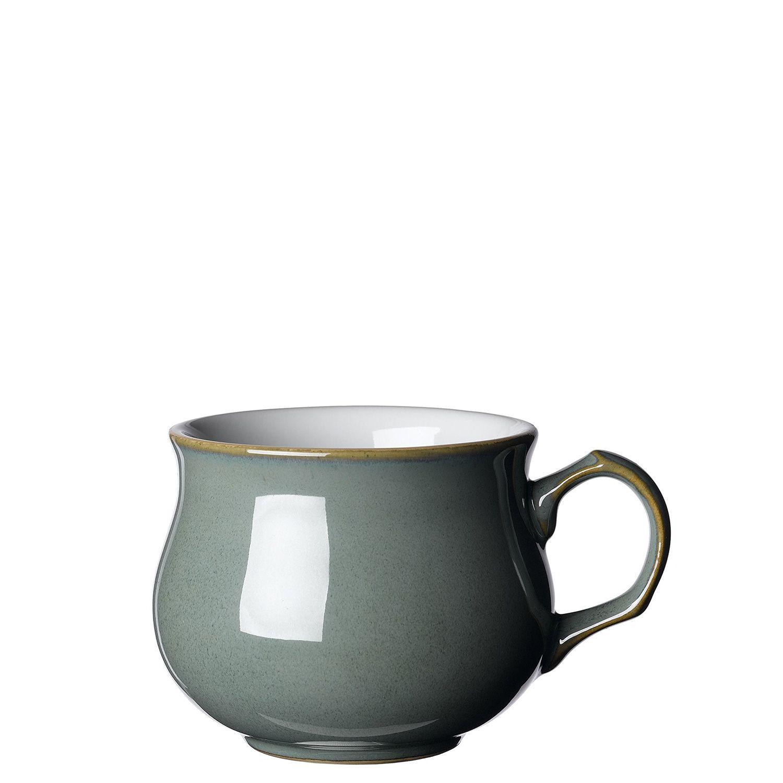 Denby Regency Green Dinnerware Suppressed Teacup 7cm 200ml H 7cm L 11 5cm W 8cm Green Dinnerware