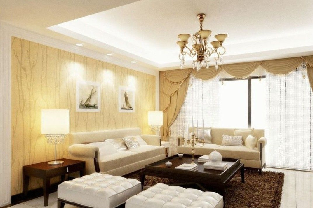 images of three window dining room curtains | 3D rendering TV wall ...