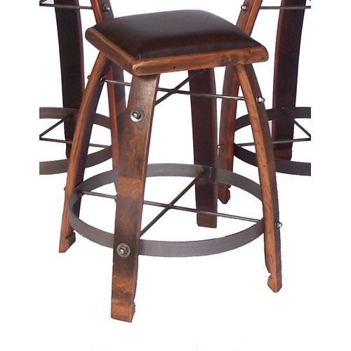 2 Day Designs Caramel 26 Inch Stool With Chocolate Leather Seat 818c26 009 Wine Barrel Furniture Wine Furniture Wine Rack Furniture