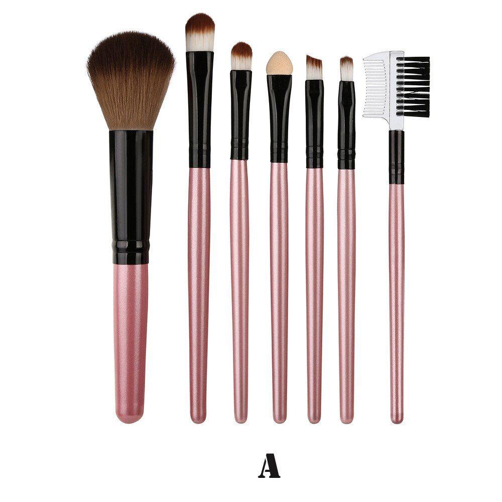 7 Teile Blending Pinsel Werkzeug Holz Make-Up Pinsel Lidschatten Pinsel Kosmetik pinceis de maquiagem – a,vereinigte-staaten