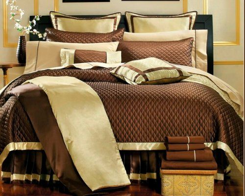 Attractive BlowOut Bedding  Park Ave Chocolate Bed In A Bag Quilt Comforter Set