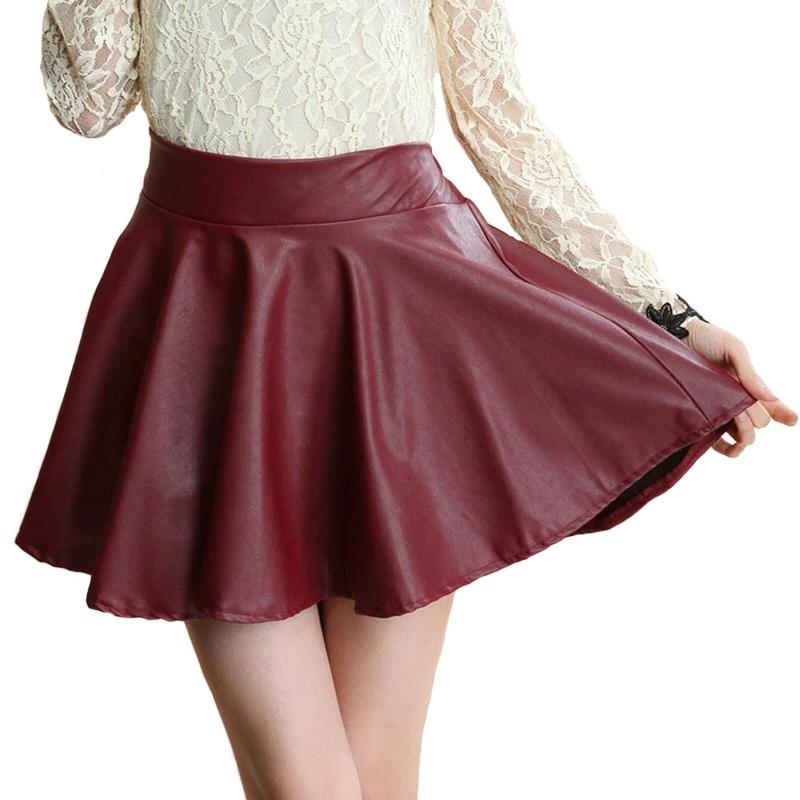 Para Mujeres Damas Plisada Elástico con Cintura Alta Fiesta Mini Falda Corta de Moda