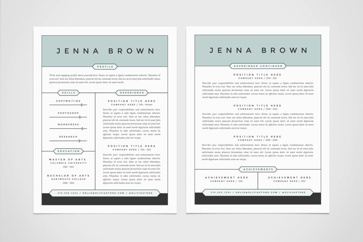 Resumes    Cv Template And Resume Cover Letters