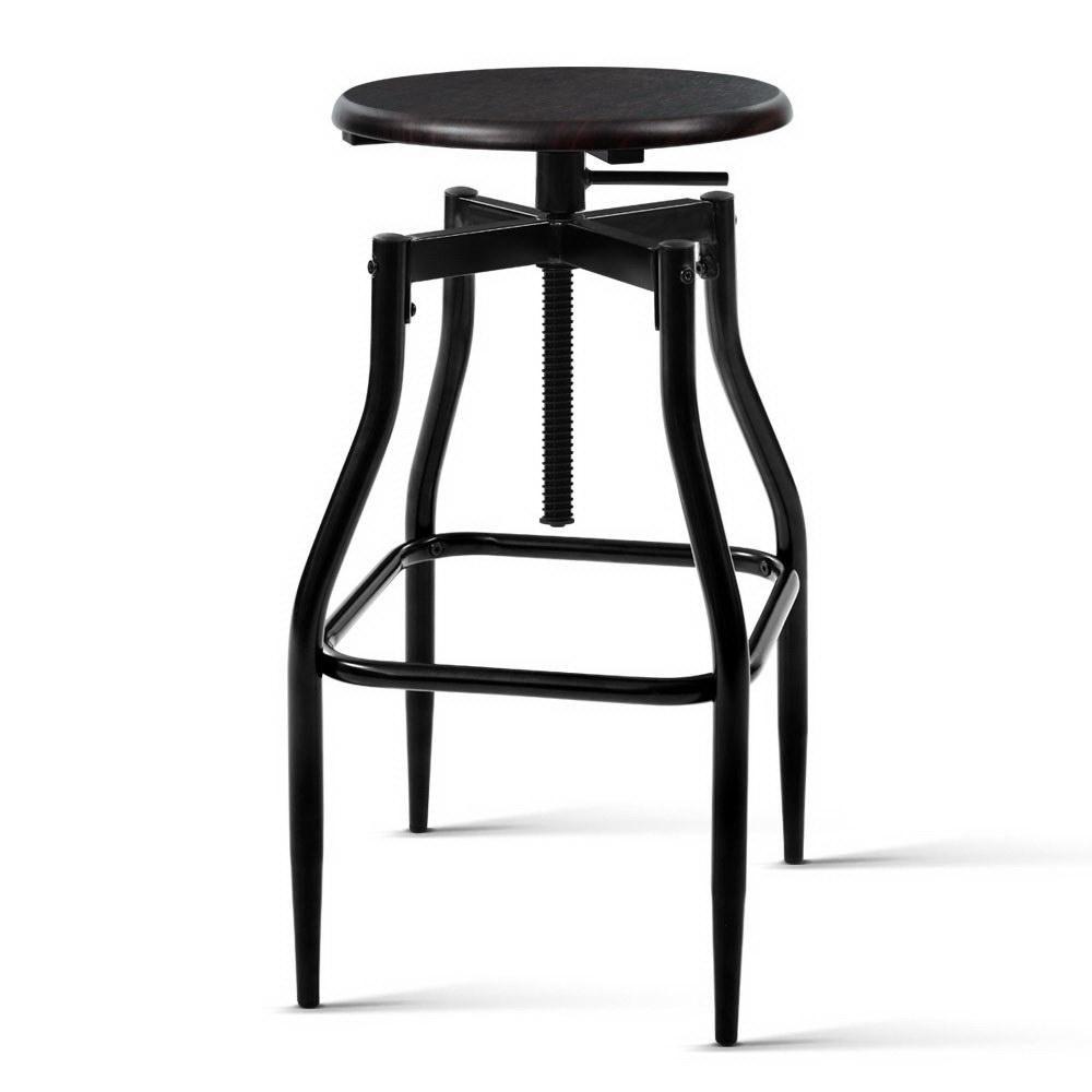 artiss 2 x vintage kitchen bar stools swivel industrial