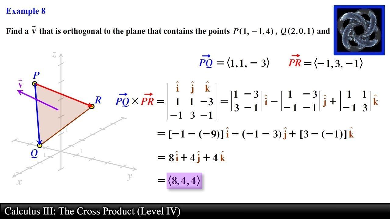 Calculus Iii The Cross Product Level 4 Examples Ii Calculus