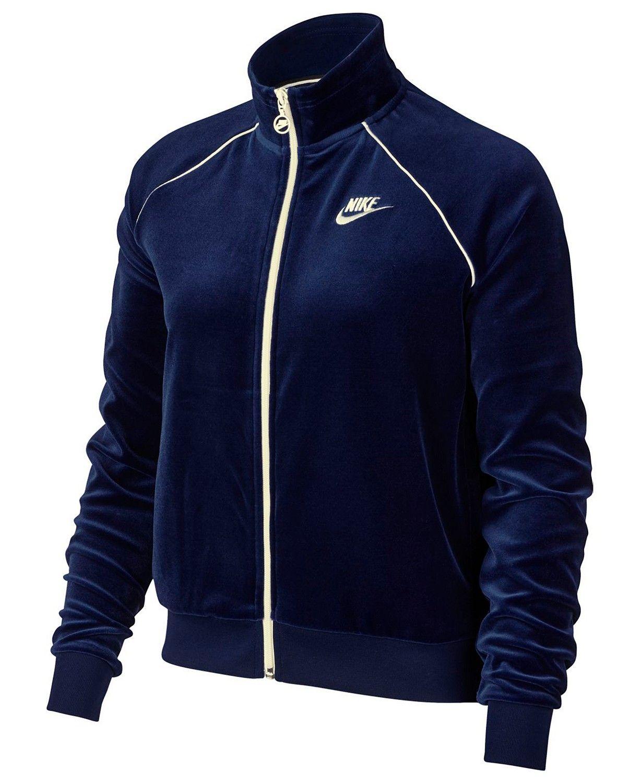 sale retailer edfd0 aad2d Nike Sportswear Velour Track Jacket - Jackets - Women - Macy s