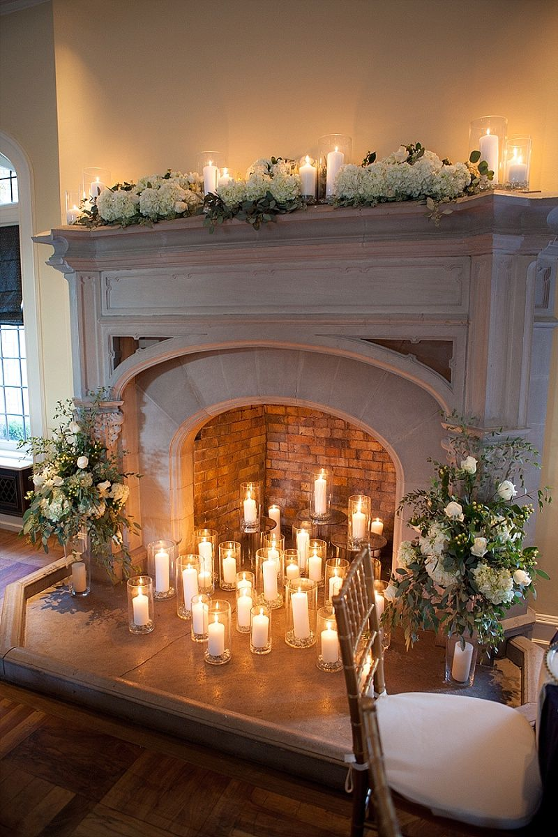 15++ Decorating inside fireplace with candles inspirations