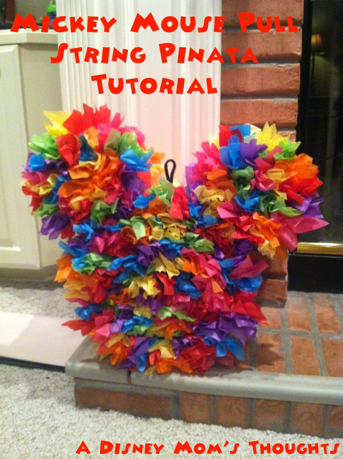 Mickey Mouse Pull String Pinata Tutorial | A Disney Mom's Thoughts
