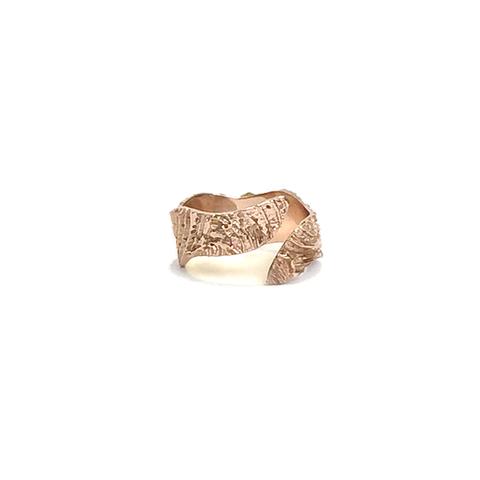 Wave Wrap Ring, Rose Gold