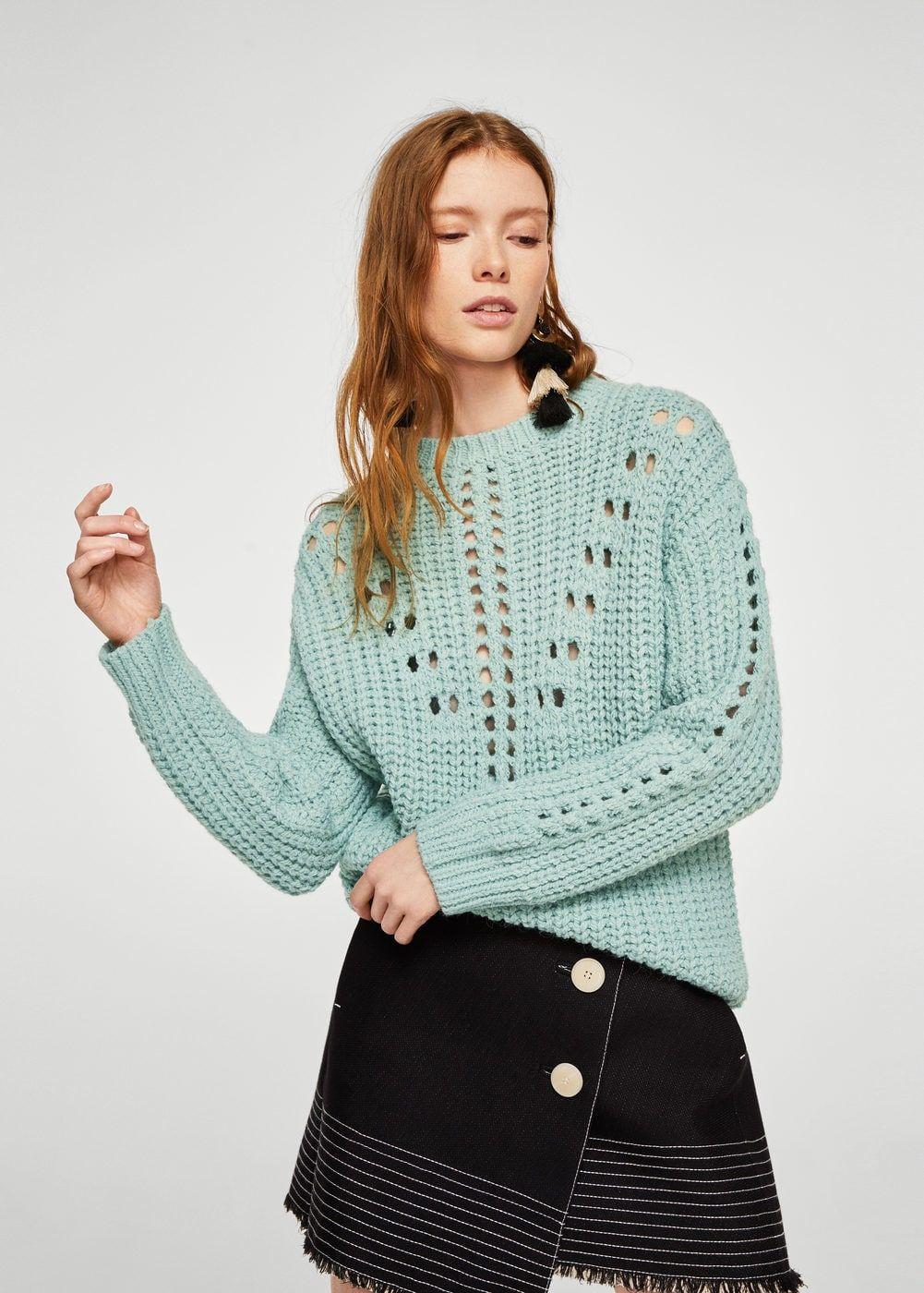 Jersey punto calado - Cárdigans y jerséis de Mujer  a02242130213