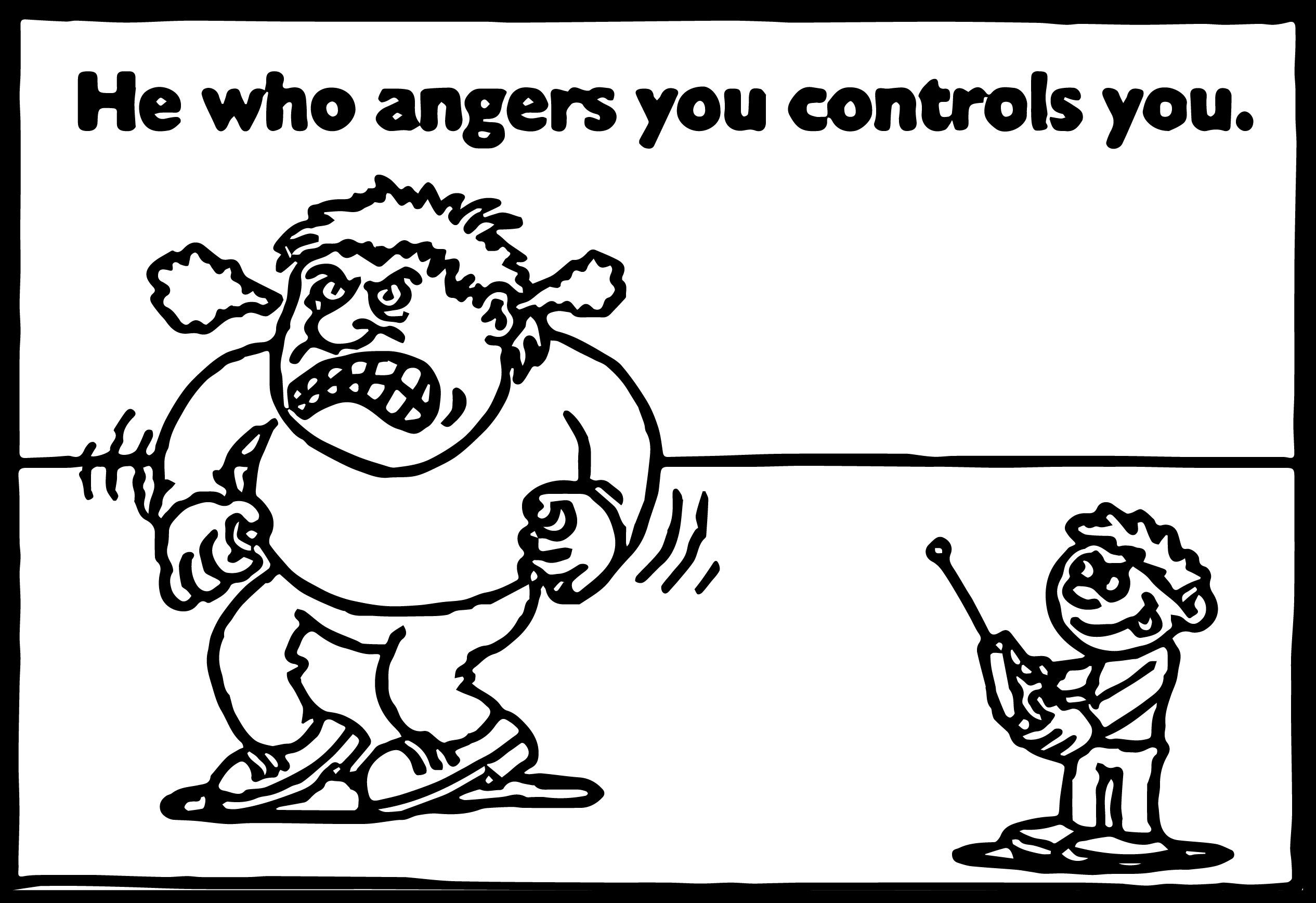 Nice Anger Management Control Coloring Page