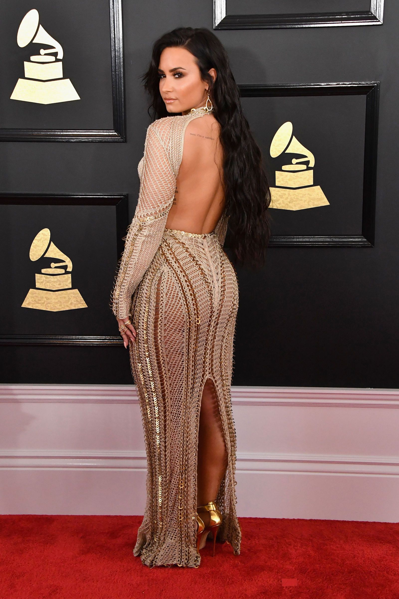 Grammys 2017 All The Red Carpet Dresses In 2020 Demi Lovato Style Demi Lovato Red Carpet Dresses