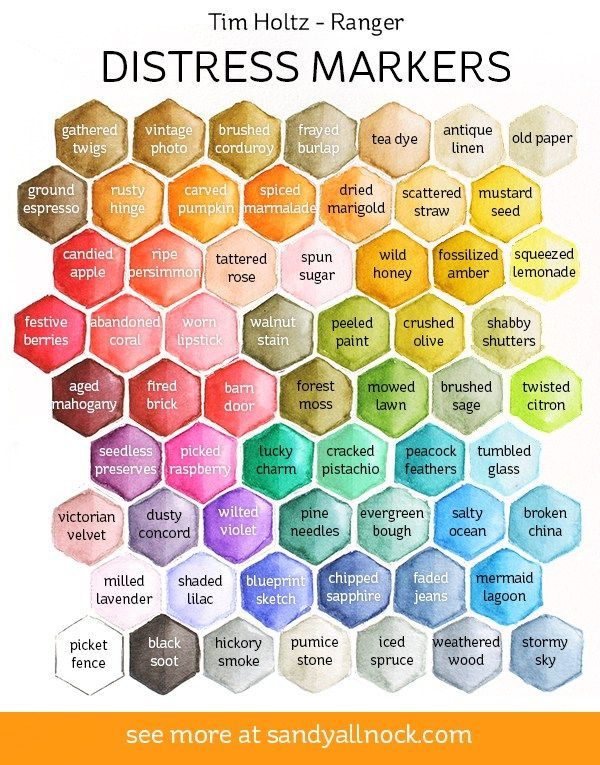 Tim Holtz Distress Markers Color Chart