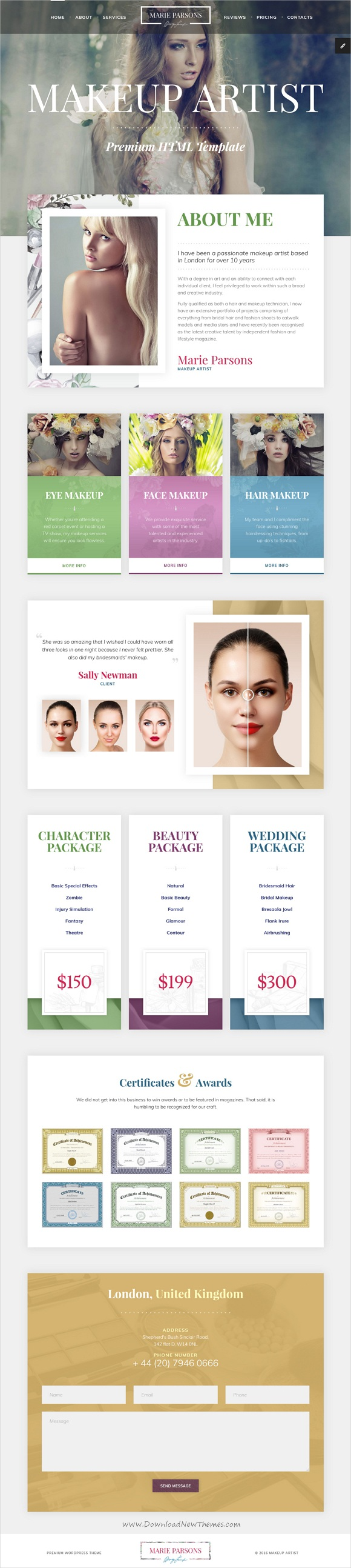 Makeup Artist - Art HTML Template with Page Builder and Dashboard ...