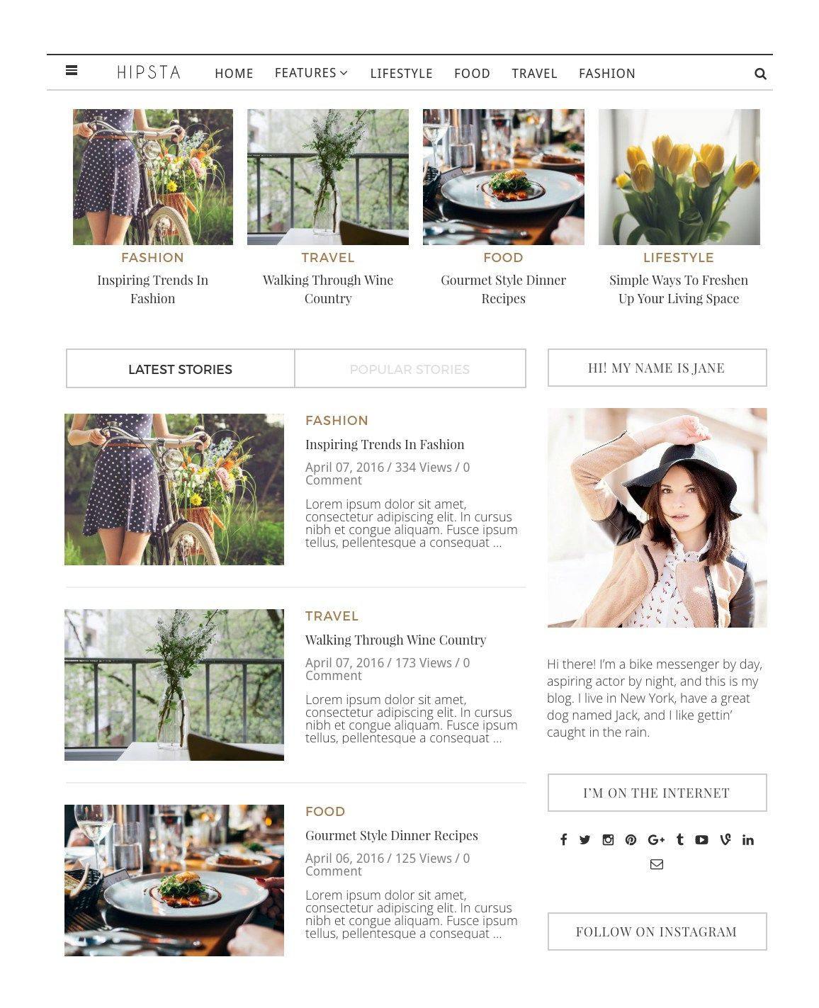 free wordpress theme of the week creative market graphic design ...