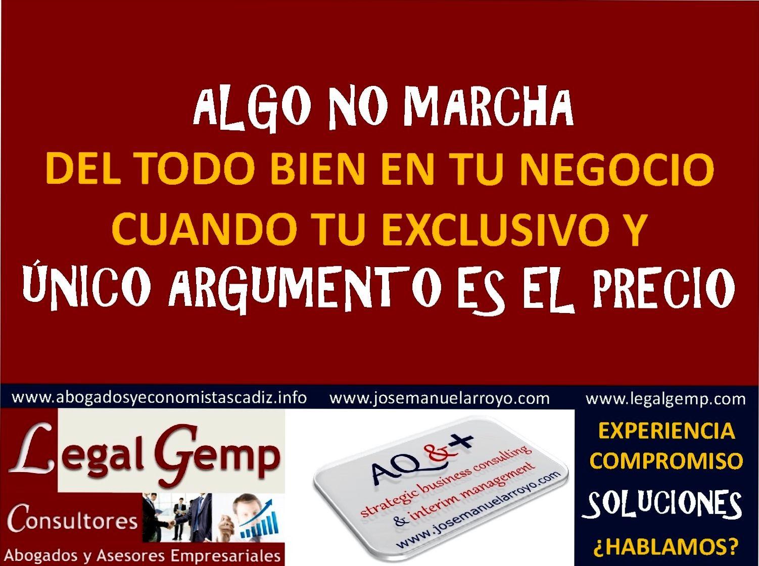 Que tu único argumento no sea el precio. www.josemanuelarroyo.com