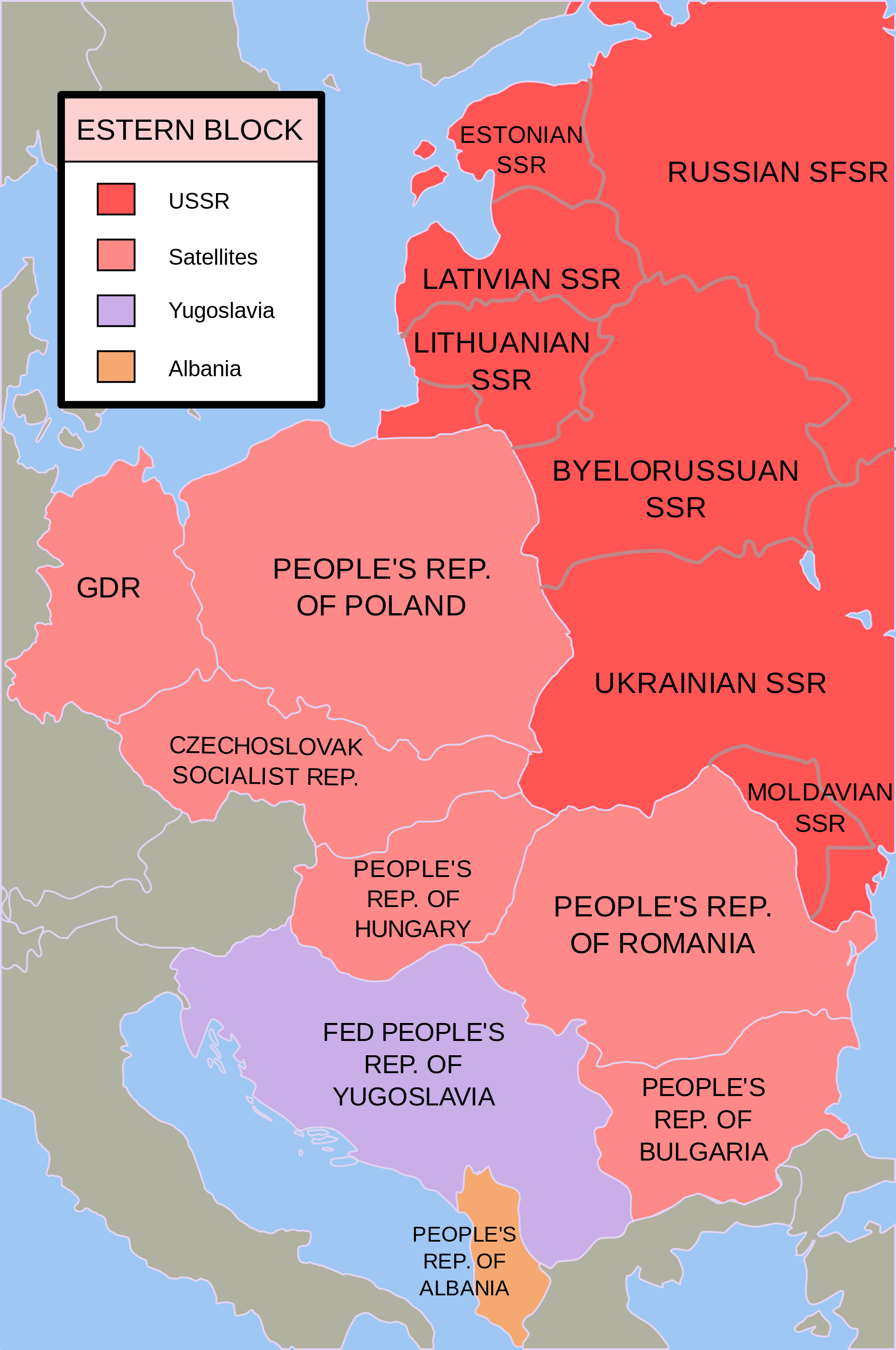 By contrast, Romania had a buffer of communist countries around it ...