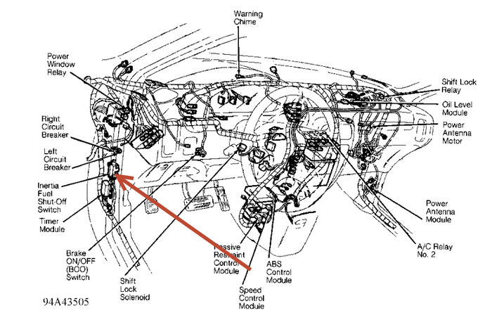 2001 mercury mountaineer headlight diagram
