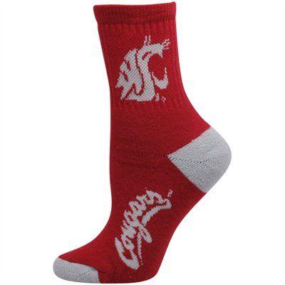 262b780e2dfa Washington State Cougars Ladies Team Logo Crew Socks #GoCougs ...