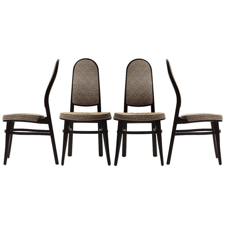 Rare Dining Chairs By Edward Wormley | From a unique collection of antique and modern dining room chairs at https://www.1stdibs.com/furniture/seating/dining-room-chairs/
