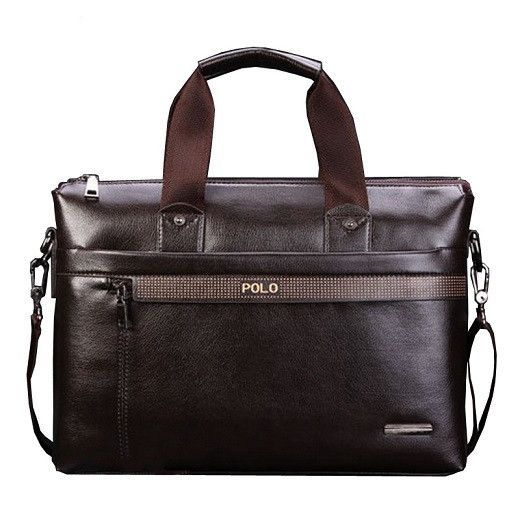 2ad78a7d22 PU Leather Mens Handbags Designer Man Zipper Handbag Messenger Bag for Men  Brown Black