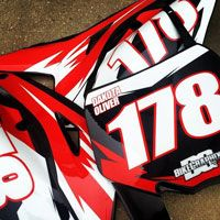 Motocross Graphics Number Plate Plates Motorcycle Repair