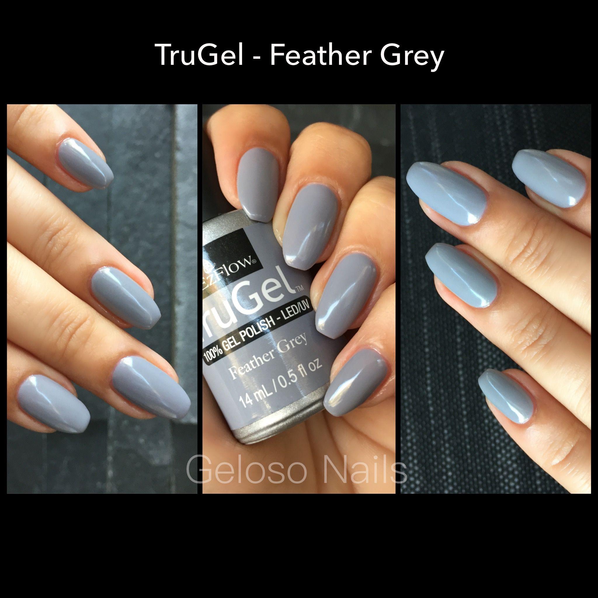 Ezflow TruGel Feather Grey | Nails | Pinterest | Swatch