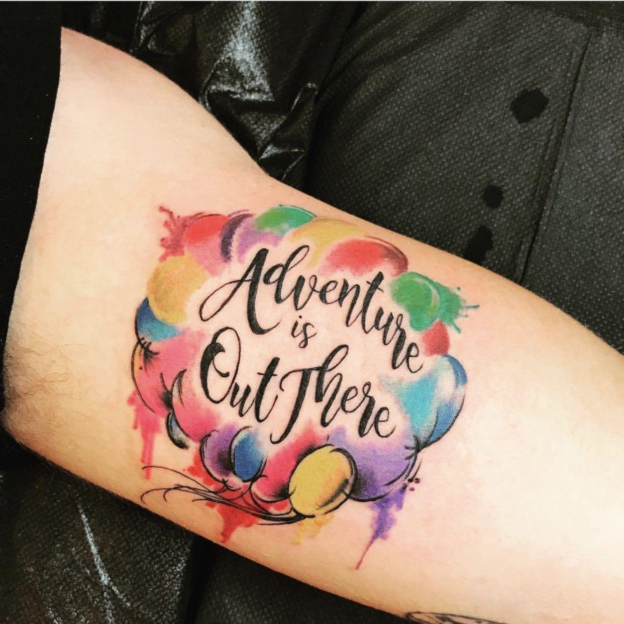 Rainbow colourful balloon tattoo > highvoltagetat