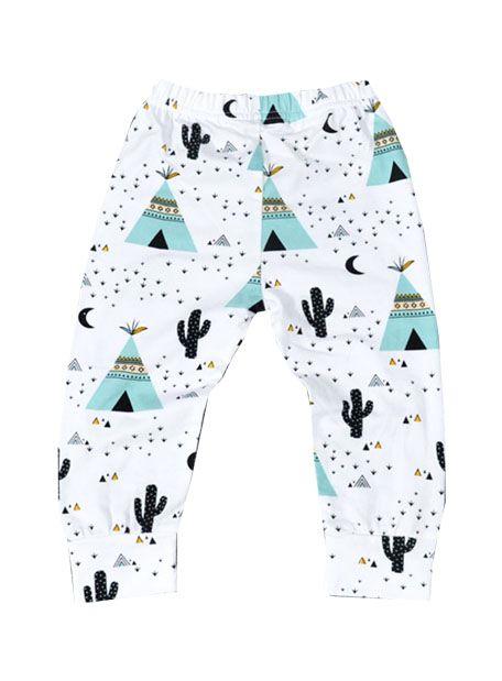 Pantalón Bebé Unisex Tipy y Cactus. #pantalon #bebe #tipy #cactus