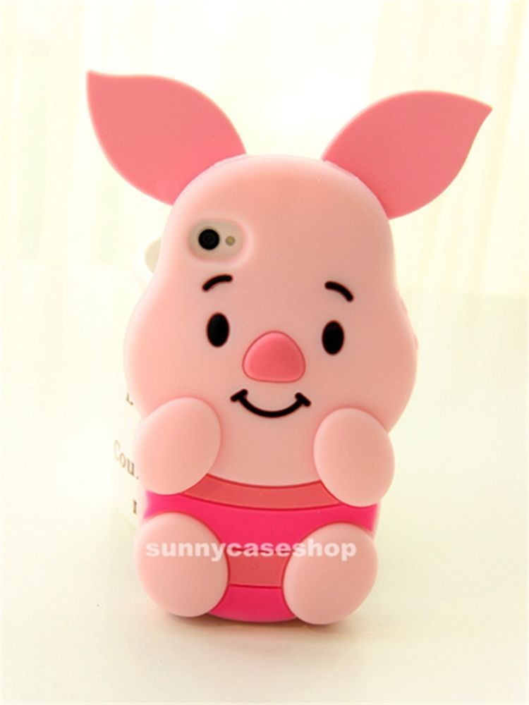 6d739350b35 3D Cute Cartoon piglet Pig Silicone Case rubber cover skin for Apple iphone  5s 6